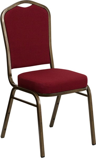 Flash Furniture Hercules Burgundy Goldvein Banquet Chair FLF-FD-C01-GOLDVEIN-3169-GG