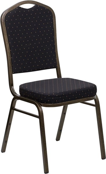 Crown Back Stacking Banquet Chairs w/Patterned Fabric FLF-FD-C01-GOLDVEIN-S0-VAR