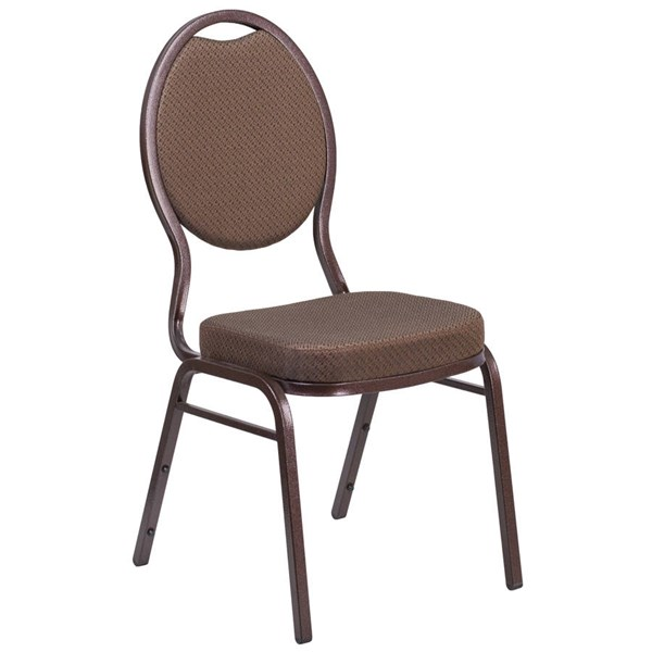 Flash Furniture Hercules Brown Patterned Stacking Banquet Chair FLF-FD-C04-COPPER-008-T-02-GG
