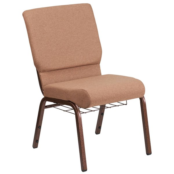 Flash Furniture Hercules Caramel Church Chair with Cup Book Rack FLF-FD-CH02185-CV-BN-BAS-GG