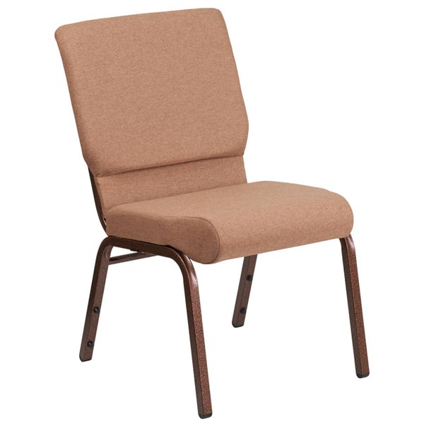 Flash Furniture Hercules Caramel Stacking Church Chair FLF-FD-CH02185-CV-BN-GG
