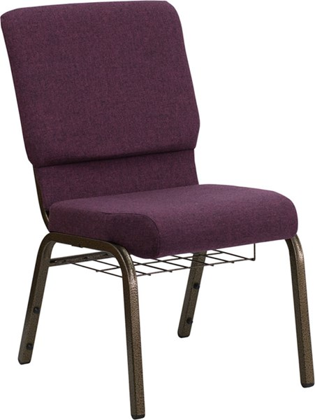 Flash Furniture Hercules 18.5 Inch Wide Plum Fabric Church Chair FLF-FD-CH02185-GV-005-BAS-GG