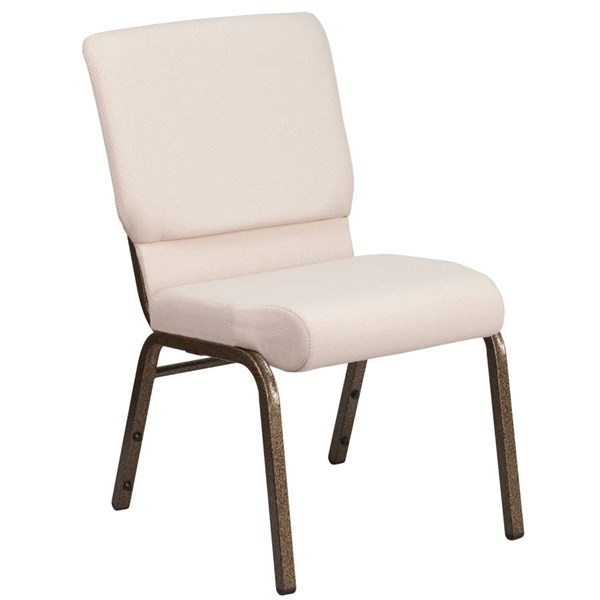 Flash Furniture Hercules Fabric and Gold Vein Frame Stacking Church Chairs FLF-FD-CH02185-GV-OFF-CH-VAR