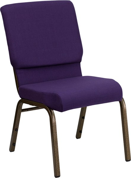 Flash Furniture Hercules 18.5 Inch Wide Royal Purple Fabric Stacking Church Chair FLF-FD-CH02185-GV-ROY-GG