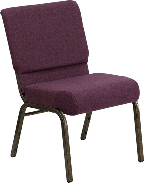 Flash Furniture Hercules 21 Inch Extra Wide Plum Stacking Church Chair FLF-FD-CH0221-4-GV-005-GG