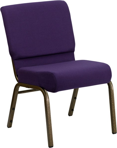 Flash Furniture Hercules 21 Inch Extra Wide Royal Purple Fabric Stacking Church Chair FLF-FD-CH0221-4-GV-ROY-GG