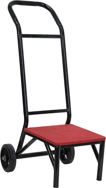 Flash Furniture Black Red Fabric Banquet and Stack Chair Dolly FLF-FD-STK-DOLLY-GG