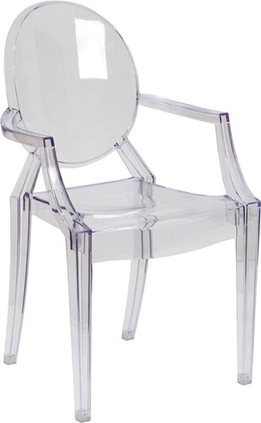 Flash Furniture Ghost Chair with Arms FLF-FH-124-APC-CLR-GG
