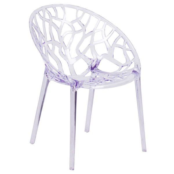 Flash Furniture Specter Transparent Stacking Side Chair FLF-FH-156-APC-GG