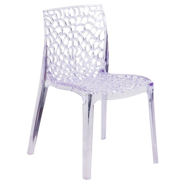 Flash Furniture Vision Transparent Stacking Side Chair FLF-FH-161-APC-GG