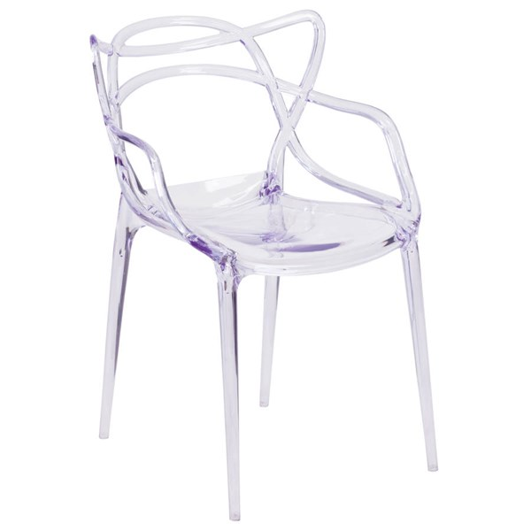 Flash Furniture Nesting Transparent Stacking Side Chair FLF-FH-173-APC-GG