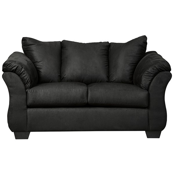 Flash Furniture Darcy Black Microfiber Loveseat FLF-FSD-1109LS-BLK-GG