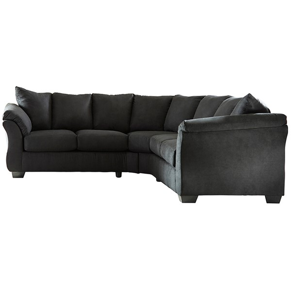 Flash Furniture Darcy Microfiber L Sectional FLF-FSD-1109SEC-GG-SEC-VAR