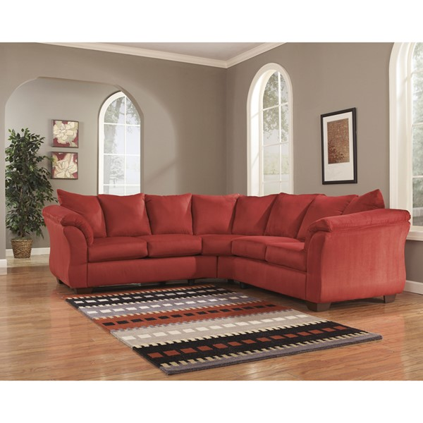 Flash Furniture Darcy Salsa Microfiber L Sectional FLF-FSD-1109SEC-RED-GG