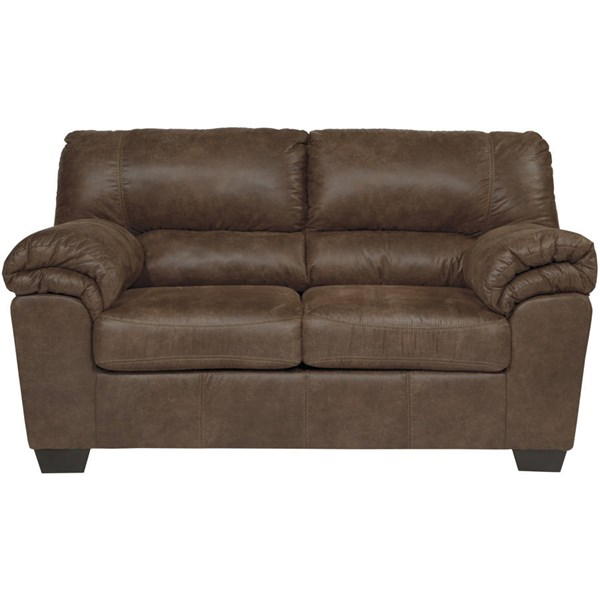 Flash Furniture Balden Coffee Leather Loveseat FLF-FSD-1209LS-COF-GG