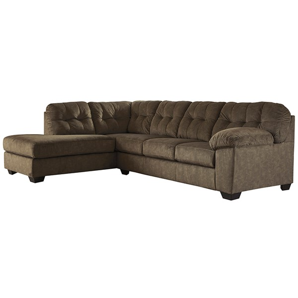 Flash Furniture Accrington Earth Microfiber L Sectional FLF-FSD-1339SEC-2RAFS-ERT-GG