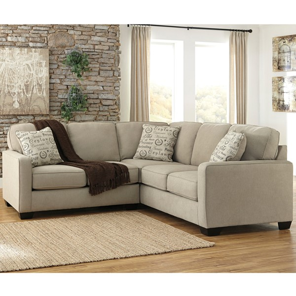 Flash Furniture Alenya Quartz Microfiber 2pc Sectional FLF-FSD-1669SEC-2PC-QTZ-GG