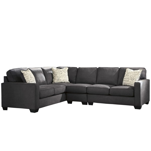 Flash Furniture Alenya Charcoal Microfiber LAF Sectional FLF-FSD-1669SEC-3LAFS-CH-GG