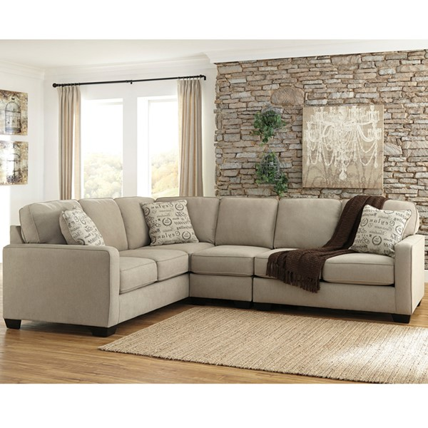 Flash Furniture Alenya Quartz Microfiber LAF Sectional FLF-FSD-1669SEC-3LAFS-QTZ-GG