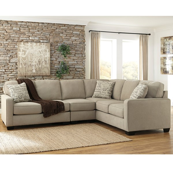Flash Furniture Alenya Quartz Microfiber RAF Sectional FLF-FSD-1669SEC-3RAFS-QTZ-GG