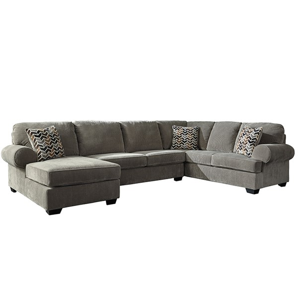 Flash Furniture Jinllingsly Gray Corduroy RAF U Sectional FLF-FSD-1949SEC-3RAFS-GRY-GG