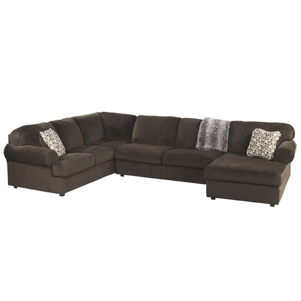 Flash Furniture Jessa Place Chocolate Fabric U Sectional FLF-FSD-6049SEC-CHO-GG