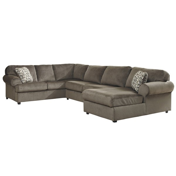 Flash Furniture Jessa Place Dune Fabric U Sectional FLF-FSD-6049SEC-DUN-GG