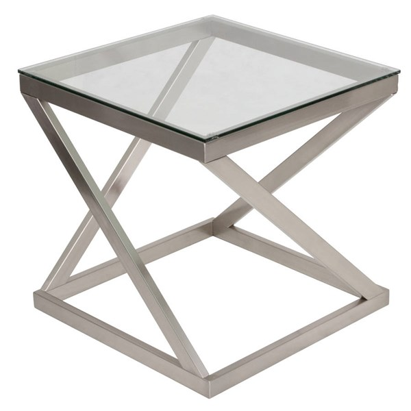 Flash Furniture Coylin Brushed Nickel End Table FLF-FSD-TE-36BNK-GG