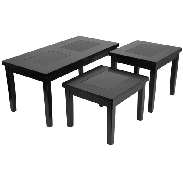 Flash Furniture Denja Dark Brown 3pc Coffee Table Set FLF-FSD-TS3-45DB-GG