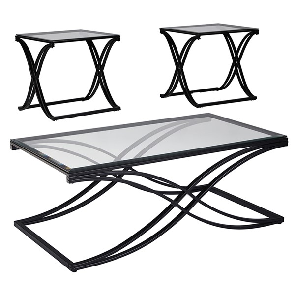 Flash Furniture Jandor Black 3pc Coffee Table Set FLF-FSD-TS3-62CBK-GG