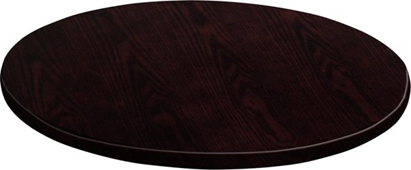 48 Inch Round Walnut Veneer Table Top FLF-GM-WAL-VEN-48RD-GG