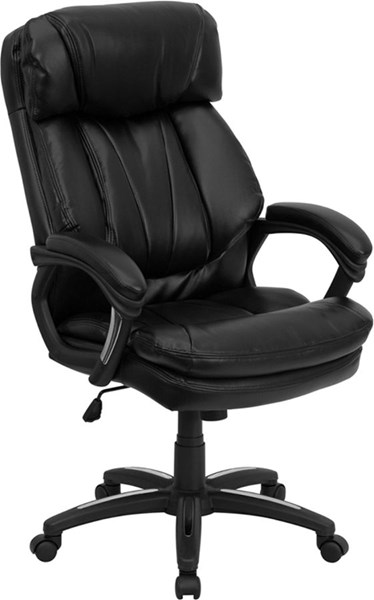Flash Furniture Hercules Black High Back Office Chair FLF-GO-1097-BK-LEA-GG
