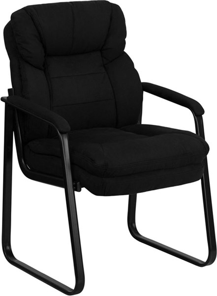 Flash Furniture Microfiber Executive Side Chairs with Sled Base FLF-GO-1156-GG-VAR