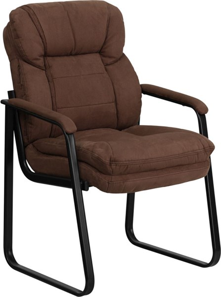 Flash Furniture Brown Microfiber Executive Side Chair with Sled Base FLF-GO-1156-BN-GG