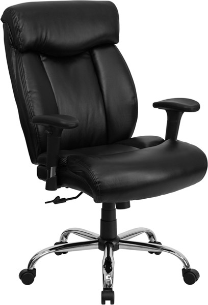 Flash Furniture Hercules Big and Tall Black High Back Office Chair with Arms FLF-GO-1235-BK-LEA-A-GG