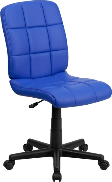 Flash Furniture Mid Back Blue Quilted Vinyl Swivel Task Chair FLF-GO-1691-1-BLUE-GG