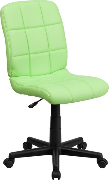 Flash Furniture Mid Back Green Quilted Vinyl Swivel Task Chair FLF-GO-1691-1-GREEN-GG