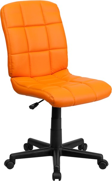 Flash Furniture Mid Back Orange Quilted Vinyl Swivel Task Chair FLF-GO-1691-1-ORG-GG