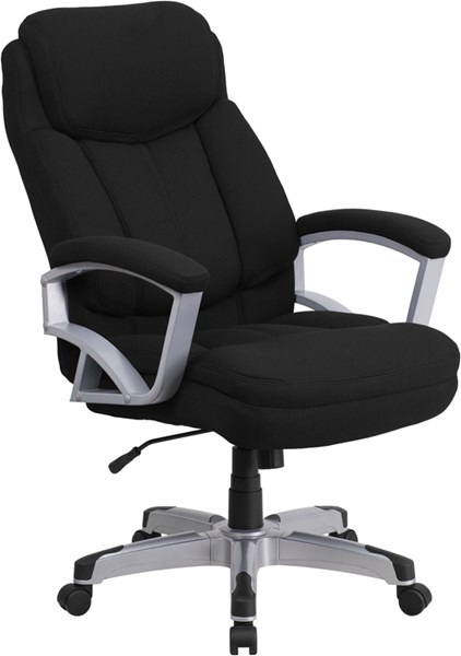 Hercules Series Big & Tall Black Fabric Executive Swivel Office Chair FLF-GO-1850-1-FAB-GG