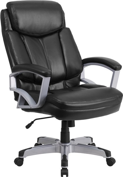 Hercules Series Big & Tall Black Leather Executive Swivel Office Chair FLF-GO-1850-1-LEA-GG
