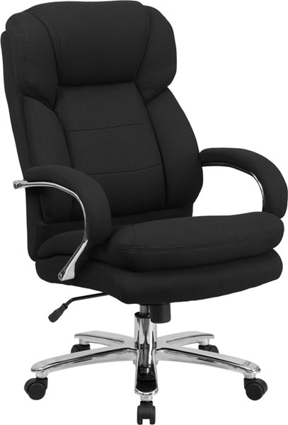 Flash Furniture Hercules Black Fabric Metal High Back Swivel Chair FLF-GO-2078-GG