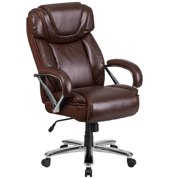 Flash Furniture Hercules Brown Executive Swivel Chair with Extra Wide Seat FLF-GO-2092M-1-BN-GG