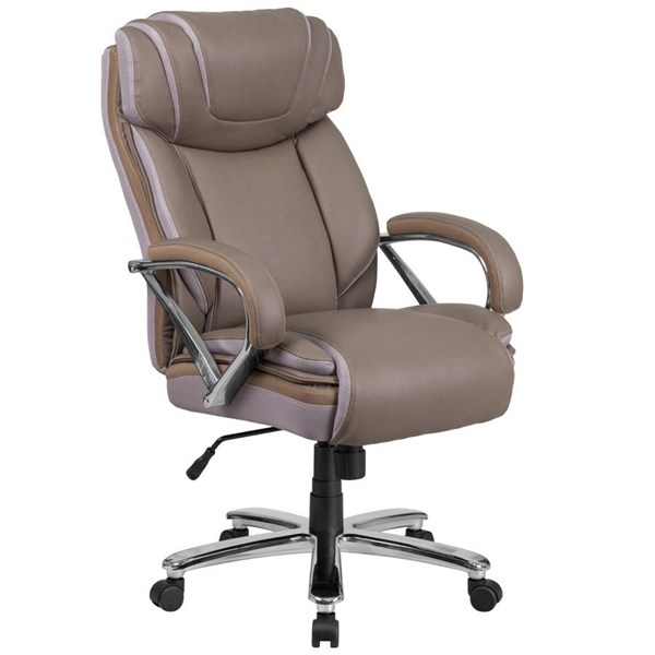 Flash Furniture Hercules Taupe Executive Swivel Chair with Extra Wide Seat FLF-GO-2092M-1-TP-GG
