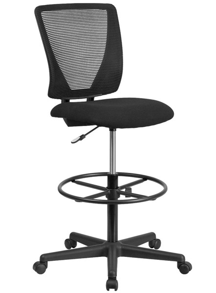 Flash Furniture Black Fabric Mesh Drafting Chair FLF-GO-2100-GG