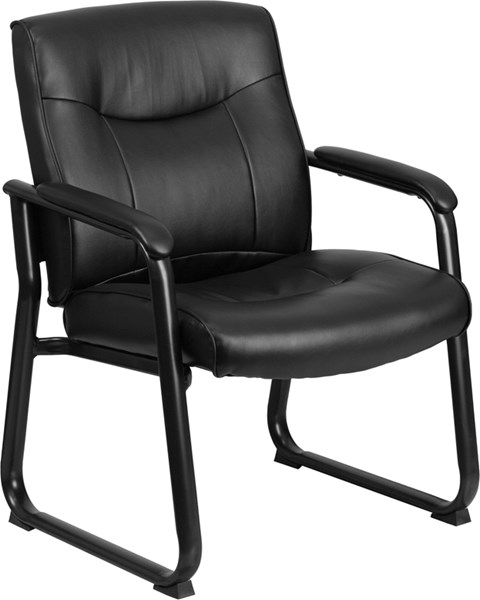 Flash Furniture Hercules Black Leather Executive Side Chair FLF-GO-2136-GG