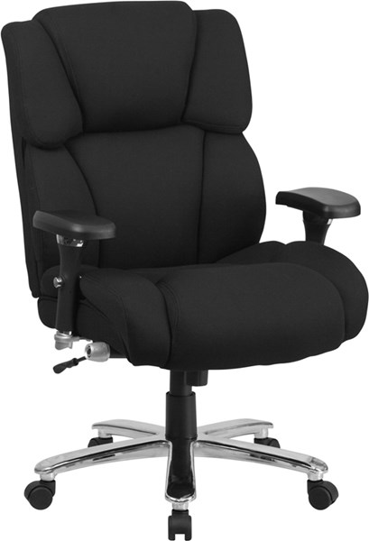 Flash Furniture Hercules Black Chrome Fabric Swivel Chair FLF-GO-2149-GG