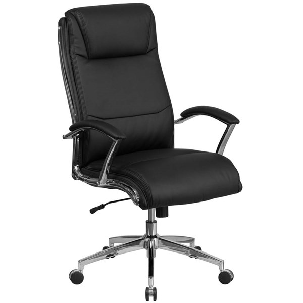 Flash Furniture Black Leather Executive Swivel Chair with Arms FLF-GO-2192-BK-GG