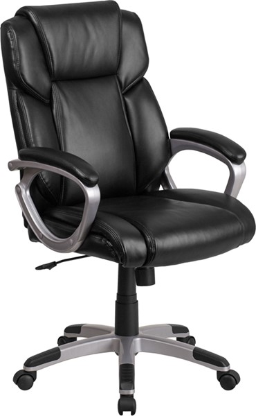 Flash Furniture Black Mid Back Chair FLF-GO-2236M-BK-GG