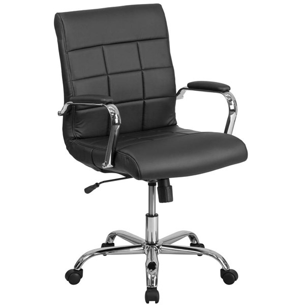 Flash Furniture Black Vinyl Executive Swivel Chair with Chrome Base FLF-GO-2240-BK-GG