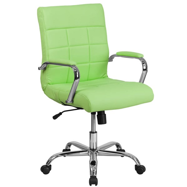 Flash Furniture Green Vinyl Executive Swivel Chair with Chrome Base FLF-GO-2240-GN-GG